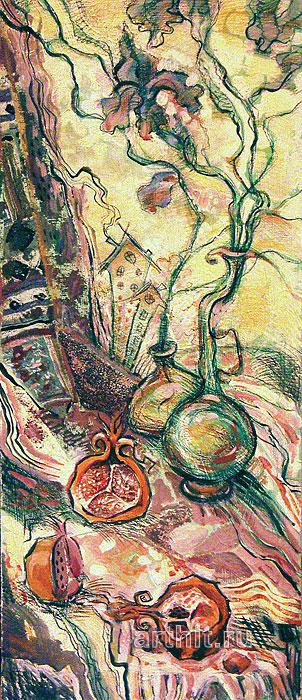 ''Зелёный день''.  Багина Ольга. Продажа картин, предметов декоративно-прикладного искусства