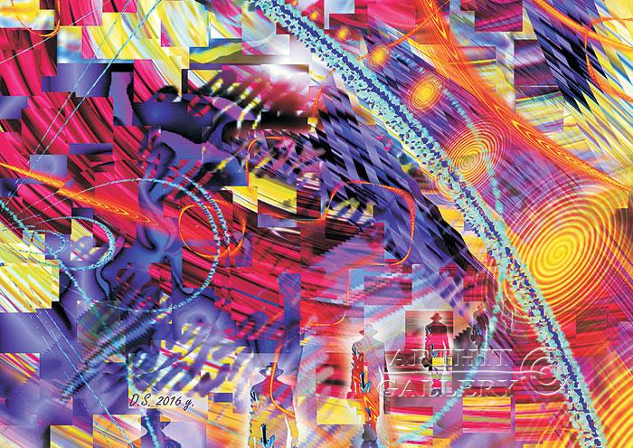 ''Time travel. Centre''.  Степанов Дмитрий. Продажа картин, предметов декоративно-прикладного искусства