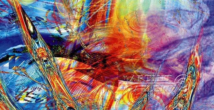 ''Faraday effect-6''.  Степанов Дмитрий. Продажа картин, предметов декоративно-прикладного искусства