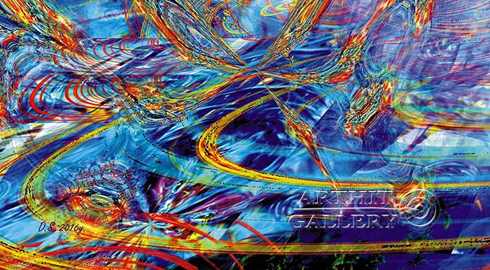 ''Faraday effect-7''.  Степанов Дмитрий. Продажа картин, предметов декоративно-прикладного искусства
