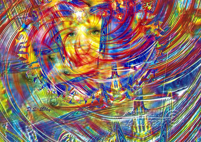 ''The world is in your hands. AUM 007''.  Степанов Дмитрий. Продажа картин, предметов декоративно-прикладного искусства