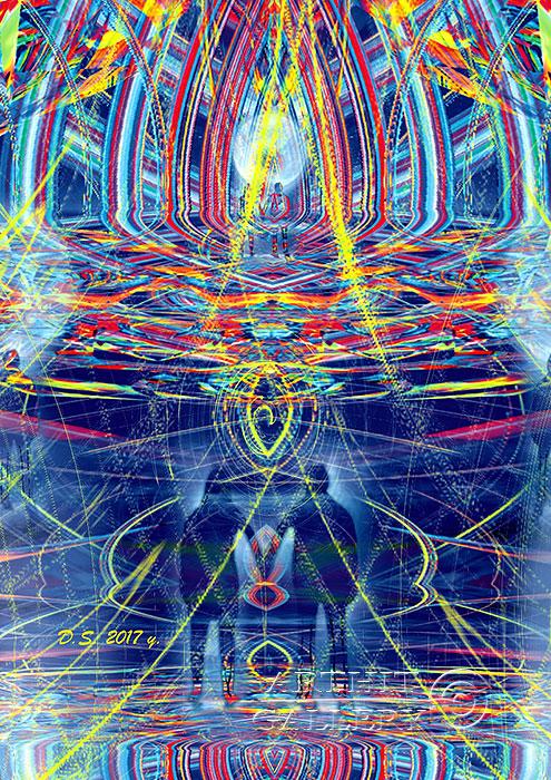 ''Energy intersection 717''.  Степанов Дмитрий. Продажа картин, предметов декоративно-прикладного искусства