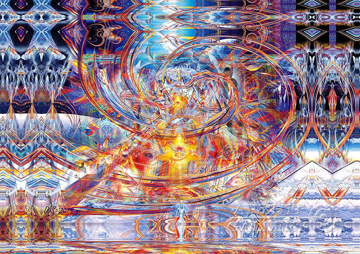 ''Multi-dimensional forms. Light energy.А-799''.  Степанов Дмитрий. Продажа картин, предметов декоративно-прикладного искусства