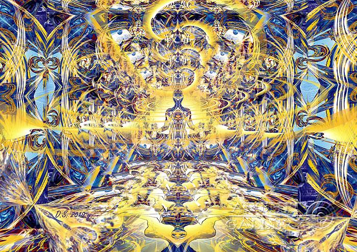 ''Meditator in the frequency range''.  Степанов Дмитрий. Продажа картин, предметов декоративно-прикладного искусства