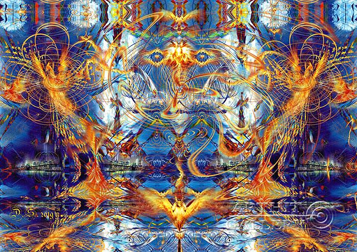 ''Phoenix and Sirin 7827''.  Степанов Дмитрий. Продажа картин, предметов декоративно-прикладного искусства