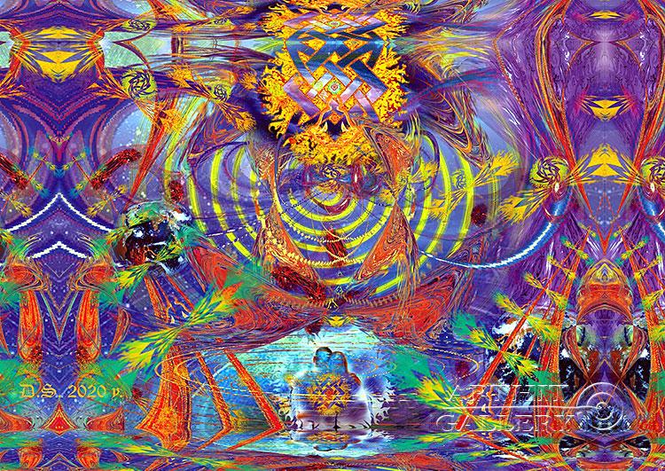''Energy of thought 7827''.  Степанов Дмитрий. Продажа картин, предметов декоративно-прикладного искусства