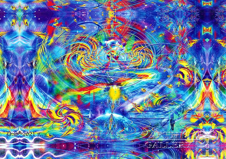 ''Rainbow Arc-rune-way-7529''.  Степанов Дмитрий. Продажа картин, предметов декоративно-прикладного искусства