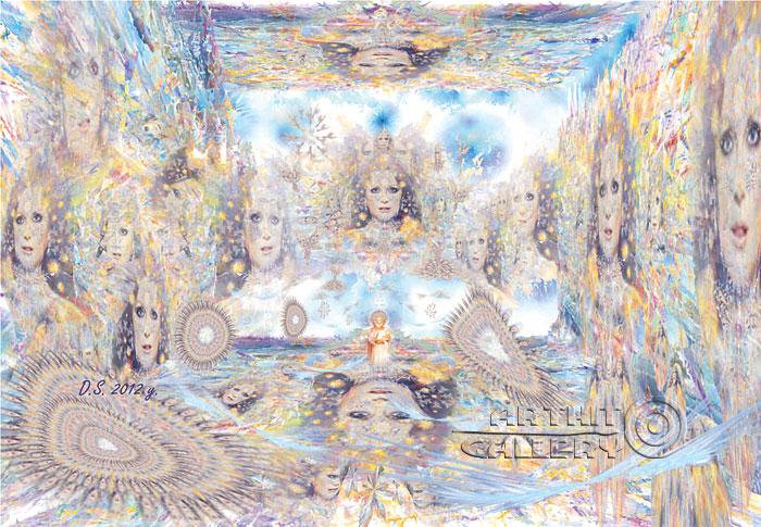 ''Reincarnation of 1000 times''.  Степанов Дмитрий. Продажа картин, предметов декоративно-прикладного искусства