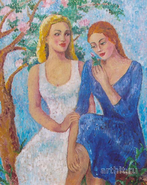 ''Беседы''.  Ходжакулова Тамара. Продажа картин, предметов декоративно-прикладного искусства