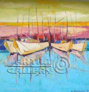 ''Закат в Портофино''.  Манукян Гагик. Продажа картин, предметов декоративно-прикладного искусства