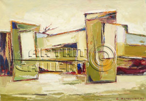 ''Деревня''.  Манукян Гагик. Продажа картин, предметов декоративно-прикладного искусства