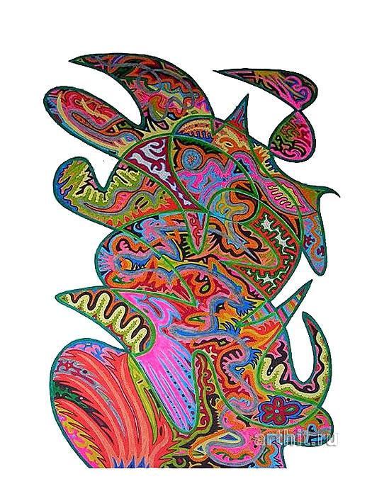 ''Полевой цветок''.  Урабе Элизабет. Продажа картин, предметов декоративно-прикладного искусства