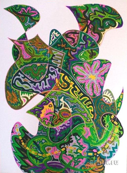 ''Девственный лес''.  Урабе Элизабет. Продажа картин, предметов декоративно-прикладного искусства