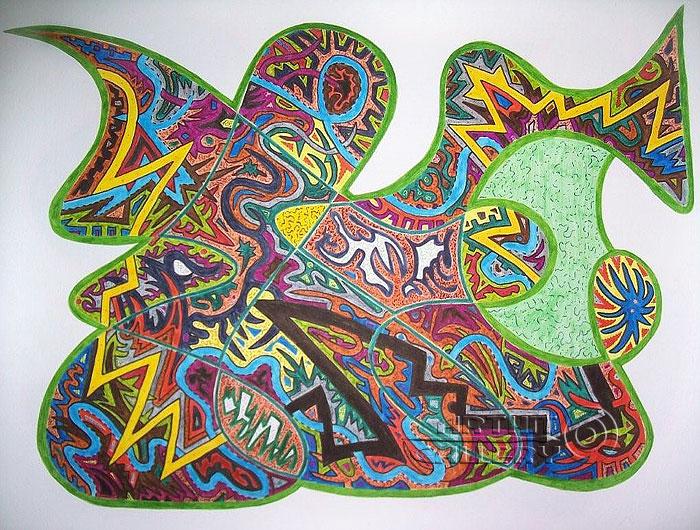 ''Без названия #2''.  Урабе Элизабет. Продажа картин, предметов декоративно-прикладного искусства