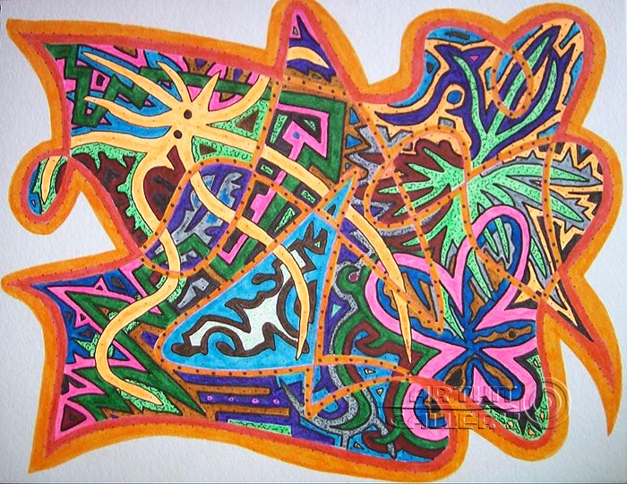 ''Без названия #6''.  Урабе Элизабет. Продажа картин, предметов декоративно-прикладного искусства