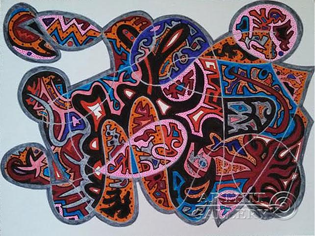 ''Без названия #9''.  Урабе Элизабет. Продажа картин, предметов декоративно-прикладного искусства