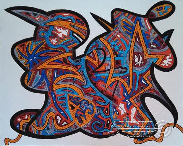 ''Без названия #15''.  Урабе Элизабет. Продажа картин, предметов декоративно-прикладного искусства