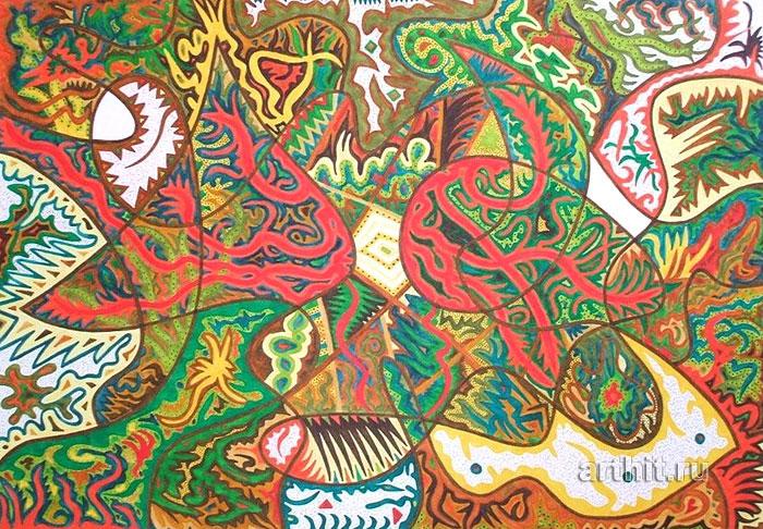 ''Отражения''.  Урабе Элизабет. Продажа картин, предметов декоративно-прикладного искусства