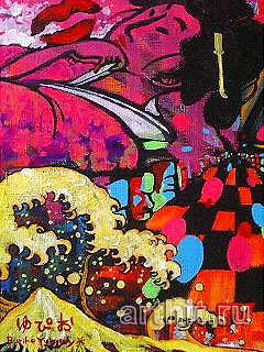 ''Звук''.  Ямакава Юкико. Продажа картин, предметов декоративно-прикладного искусства