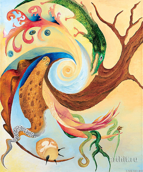 ''Зарождение''.  Курсакова Лариса. Продажа картин, предметов декоративно-прикладного искусства