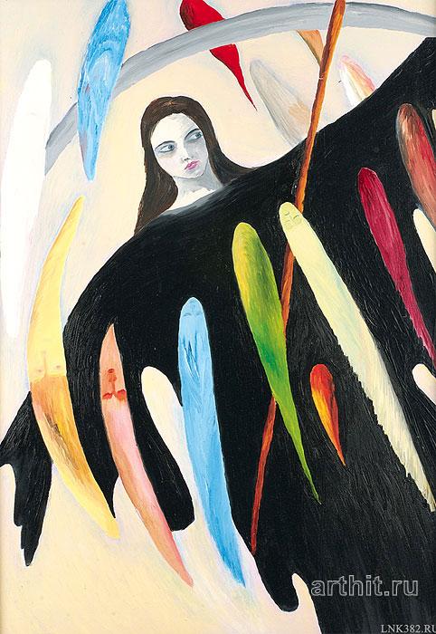 ''Она, коса и души''.  Курсакова Лариса. Продажа картин, предметов декоративно-прикладного искусства