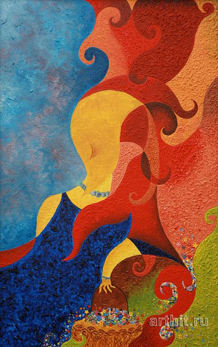 ''Незнакомка''.  Рябов Михаил. Продажа картин, предметов декоративно-прикладного искусства