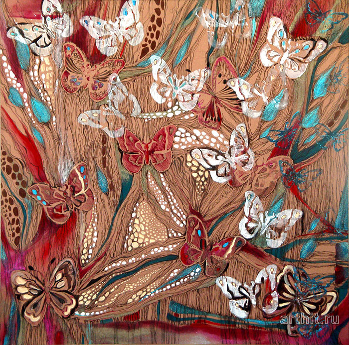 ''Бабочки''.  Манукян Инга. Продажа картин, предметов декоративно-прикладного искусства