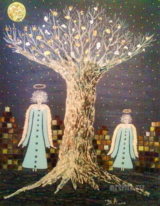 ''Ангелы сна''.  Апрельская Диана. Продажа картин, предметов декоративно-прикладного искусства