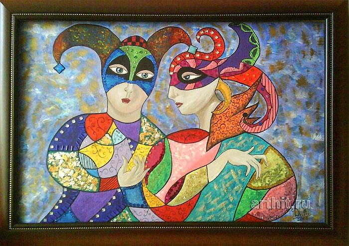 ''Маскарад''.  Апрельская Диана. Продажа картин, предметов декоративно-прикладного искусства