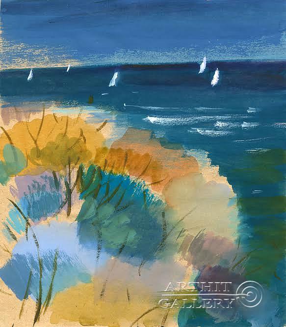 ''Осень, море''.  Будаева Ольга. Продажа картин, предметов декоративно-прикладного искусства