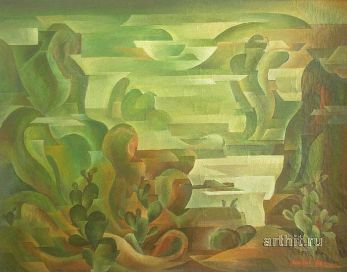 ''Кактусовый берег''.  Сабиров Закир. Продажа картин, предметов декоративно-прикладного искусства
