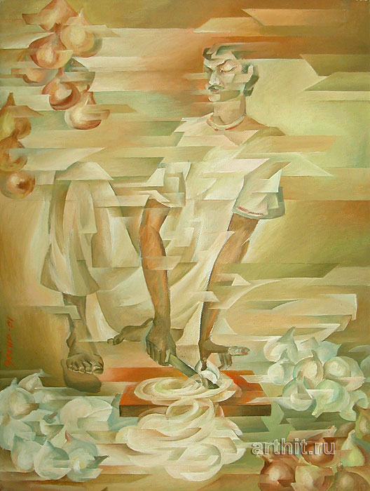 ''Луковые слёзы''.  Сабиров Закир. Продажа картин, предметов декоративно-прикладного искусства
