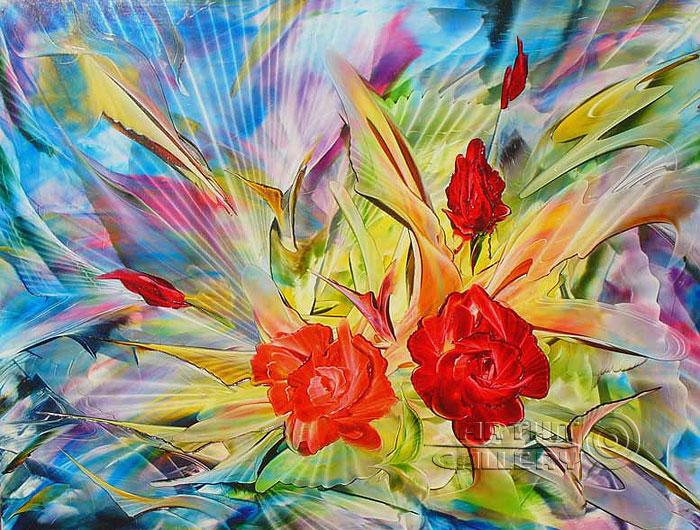 ''Розы''.  Ромохов Владимир. Продажа картин, предметов декоративно-прикладного искусства