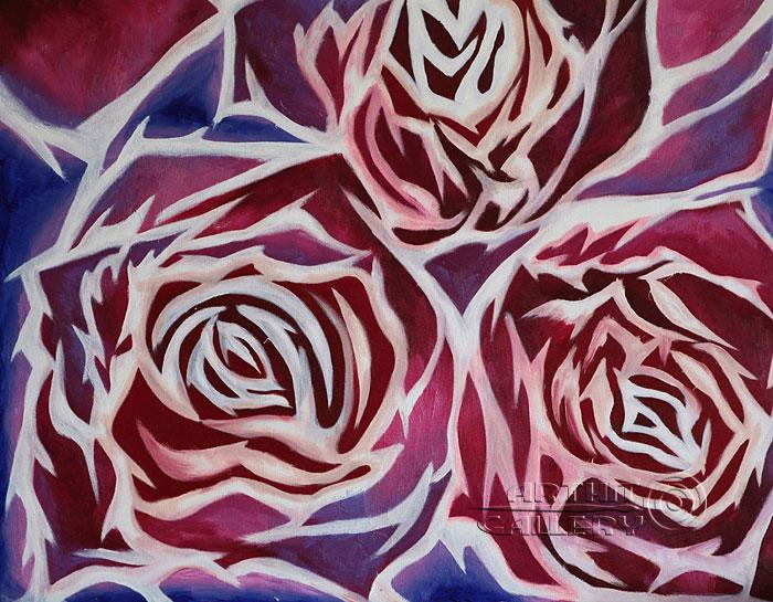 ''Красные  Розы''.  Минаева Татьяна. Продажа картин, предметов декоративно-прикладного искусства