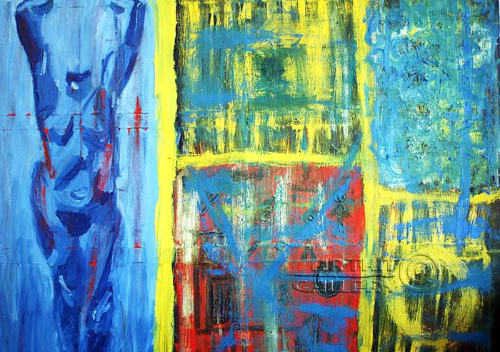 ''Голубая 17''.  Аллеар Екатерина. Продажа картин, предметов декоративно-прикладного искусства