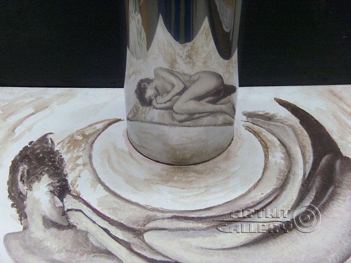 ''Голая нищета''.  Автар Сингх Вирди. Продажа картин, предметов декоративно-прикладного искусства