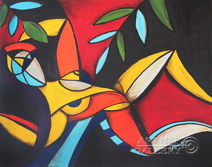 ''Женский рай''.  Манукян Вероника. Продажа картин, предметов декоративно-прикладного искусства