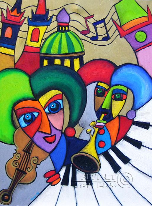 ''Музыкант''.  Манукян Вероника. Продажа картин, предметов декоративно-прикладного искусства