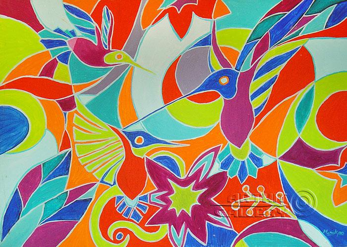 ''Птичий рай''.  Манукян Вероника. Продажа картин, предметов декоративно-прикладного искусства