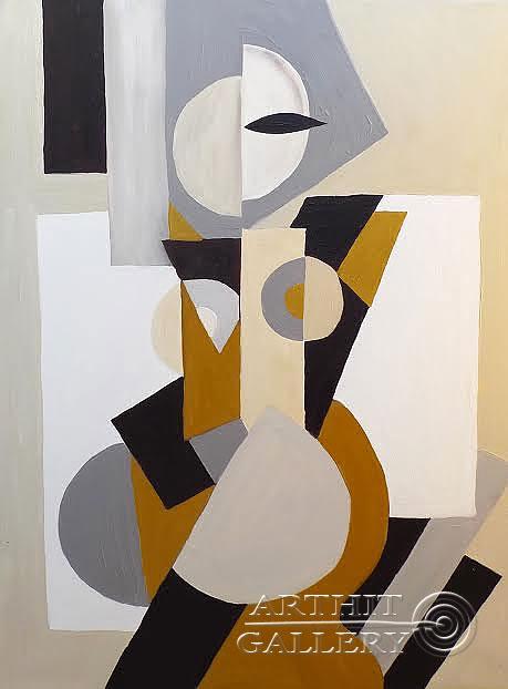 ''Геометрическая дама''.  Манукян Вероника. Продажа картин, предметов декоративно-прикладного искусства