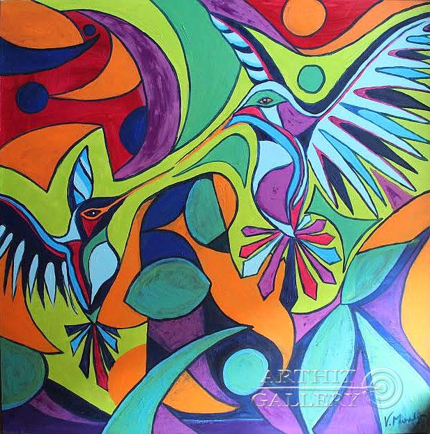 ''Прикосновение''.  Манукян Вероника. Продажа картин, предметов декоративно-прикладного искусства