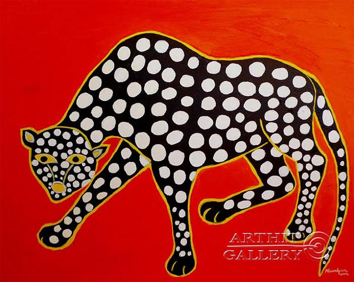 ''Леопард''.  Манукян Вероника. Продажа картин, предметов декоративно-прикладного искусства