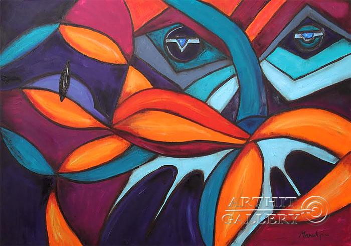 ''Эмоция''.  Манукян Вероника. Продажа картин, предметов декоративно-прикладного искусства