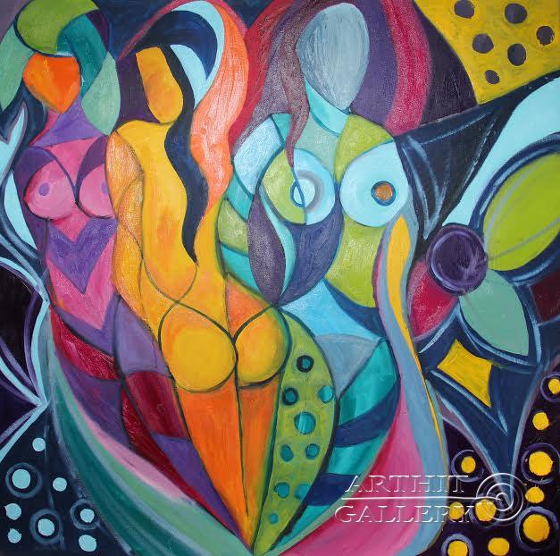 ''Музы''.  Манукян Вероника. Продажа картин, предметов декоративно-прикладного искусства