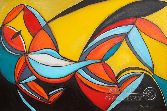 ''Мечта женщины''.  Манукян Вероника. Продажа картин, предметов декоративно-прикладного искусства