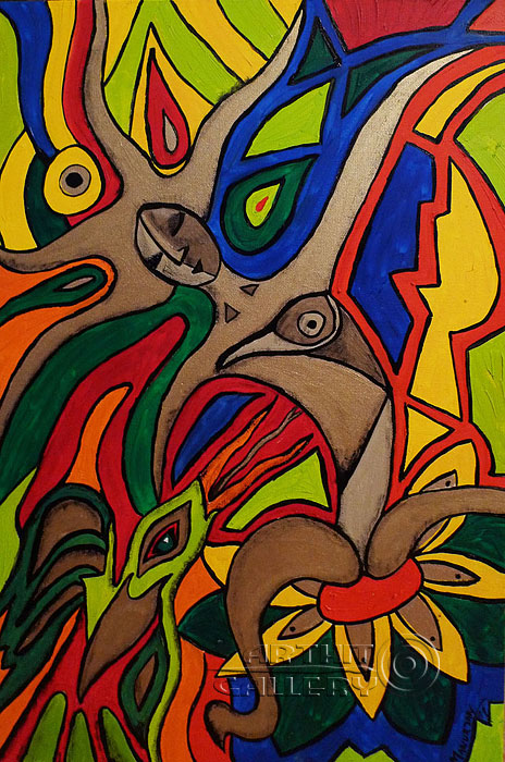 ''Женщина в лесу''.  Манукян Вероника. Продажа картин, предметов декоративно-прикладного искусства