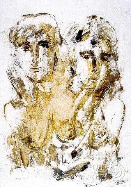 ''Две девушки''.  Дьяконов Юрий. Продажа картин, предметов декоративно-прикладного искусства