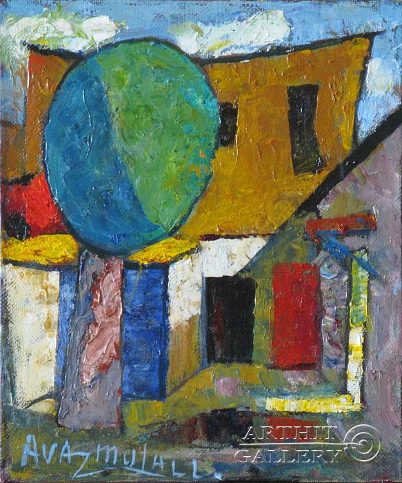 ''Мой двор''.  Усманов Аваз. Продажа картин, предметов декоративно-прикладного искусства