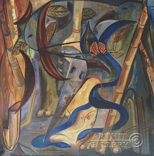 ''Голубые змеи ревности''.  Малахова Светлана. Продажа картин, предметов декоративно-прикладного искусства