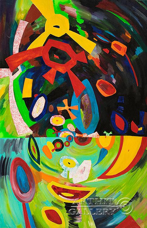 ''Прогулка 2''.  Абрамова Ирина. Продажа картин, предметов декоративно-прикладного искусства